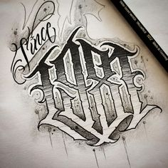 No description of the photo available. – Graffiti World Number Tattoo Fonts, Tattoo Lettering Alphabet, Chicano Tattoos Lettering, Tattoo Lettering Styles, Graffiti Lettering Fonts, Tattoo Script, Lettering Design, Hand Lettering, Number Tattoos