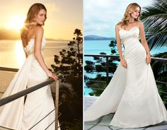 Ella- Dress 5485: Lavish Satin Gown-  With Detachable train, can come with a champagne accent