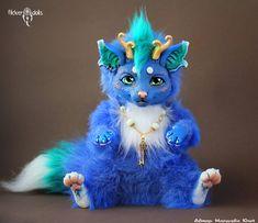 Blue Dragon-Cat by Flicker-Dolls on DeviantArt