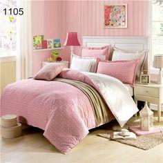 2015 Hot 3D Comforter Sets Juego de Cama Sabanas Boho Bedding Pink Polka Dot Duvet Covers Plaid Queen Beds Honey for Girls-in Bedding Sets from Home & Garden on Aliexpress.com | Alibaba Group