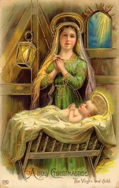 early 1900s colour postcard - a holy christmastide - the virgin & child • AUD 8.40 - PicClick AU