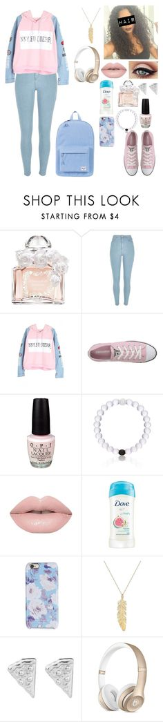 """Untitled #650"" by taraknighton ❤ liked on Polyvore featuring Guerlain, River Island, Converse, OPI, Everest, Isaac Mizrahi, Rock 'N Rose and Herschel Supply Co."