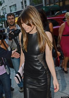 Jessica Biel In A Leather Dress Is Why Leather Dresses Exist