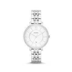 The personalized Fossil® Virginia Silver Stainless Steel Watch is the perfect combination of classic beauty and modern sophistication. Featuring an easy-to-adjust strap and three hand movement, you can engrave the back of the watch with a secret message, names or monogram. 11-year limited warranty. https://www.thingsremembered.com/fossil-womens-virginia-silver-stainless-steel-watch/product/347411#?fcref=OrgPinterest