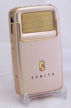 Vintage Zenith Regent (Mod II) Transistor (Body) Hearing Aid, 5 Transistors, Gold-Colored Anodized Aluminum Case, Made In USA, Circa 1958 Male Infertility, Vacuum Tube, Hearing Aids, The Cure, Televisions, Usa, Radios, Gold, How To Make