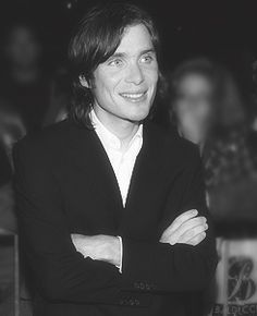 Cillian Murphy - I did have to scour for at least ONE smiling photo....