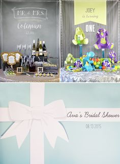 Personalized backdrops are such a hot new trend in party planning. Check out how to use these backdrops in 3 different ways for 3 different themes.