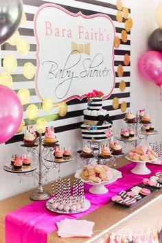 Bara faith's kate spade inspired baby shower scarlett lillia Kate Spade Party, Shower Party, Baby Shower Parties, Baby Shower Themes, Bridal Shower, Shower Ideas, Baby Showers, Party Fiesta, Baby Shower Cakes