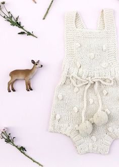 e00585a8a67 hand knitted and sewn baby children s clothes and shoes by bumblegoosie.  Hand Knitted Pom Pom Baby Romper ...