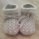 Baby Knitting Patterns Free Knitting Pattern Little Eyes Baby Booties - Cute cable booties designed for newborns but easily.