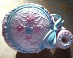 vintage and old baby rattle | vintage planter baby rattle narco baby planter pink blue rattle japan ...