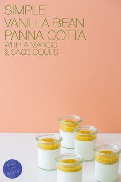 Vanilla Bean Panna Cotta with Mango Coulis | Spoon Fork Bacon