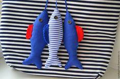 Купить Для фотосессии рыбки текстильные - синий, рыбка текстильная, текстиль для детской, рыба