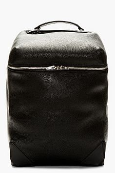 Alexander Wang Black Pebbled Leather Wallie Backpack