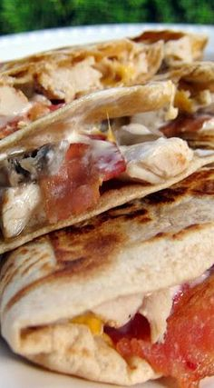 Chicken Bacon Ranch Quesadilla