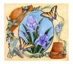 garden print Kathy Hatch  650 x 569