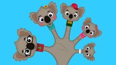 The Finger Family Koala Family Nursery Rhyme Finger Rhymes, Finger Family Rhymes, Family Songs, Kids Songs, Sister Finger, Mommy Finger, Baby Finger, Nursery Rhymes Collection, Kids Nursery Rhymes
