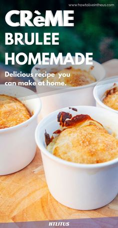 Check out tis amazing Creme brûlée recipe! http://www.howtoliveintheus.com