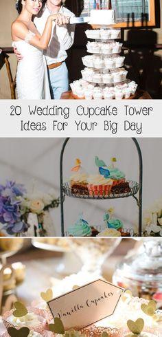 White and gold cupcake tower Wedding Wedding Cake Maker, Cupcake Tower Wedding, Vegan Wedding Cake, Wedding Sweets, Wedding Cake Flavors, Wedding Cake Toppers, Unusual Wedding Cakes, Cool Wedding Cakes, Beautiful Wedding Cakes