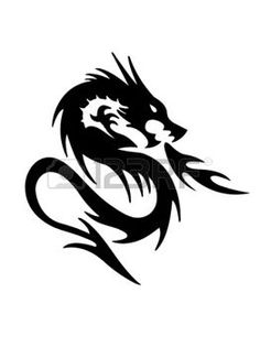 Dragon Cliparts, Stock Vector And Royalty Free Dragon Illustrations - dragon: black dragon on white background Illustration Informations About Dragon Cliparts, S - Black Dragon Tattoo, Dragon Tattoo Art, Tribal Dragon Tattoos, Celtic Dragon Tattoos, Dragon Tattoos For Men, Dragon Artwork, Dragon Tattoo Designs, Dragon Icon, Dragon Sketch