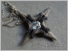 Beaded pendant Polaris tutorial by EridhanCreations on Etsy