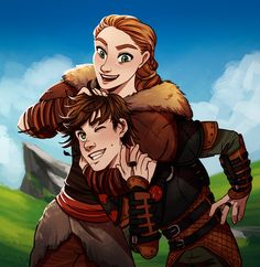 Valka and Hiccup