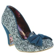 Irregular Choice Turquoise Nick Of Time Glitter High Heels