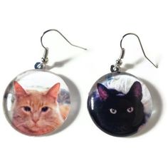 Would make a cool gift! Personalized Pet Earrings, Custom Photo Dog & Cat Jewelry, Nickel Free