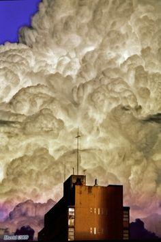 Storm cloud over Johannesburg