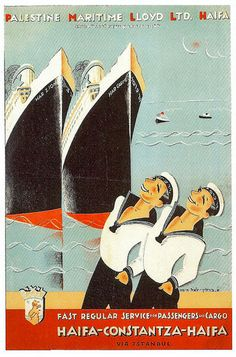 Palestine Maritime Lloyd Ltd. Haifa | The Palestine Poster Project Archives
