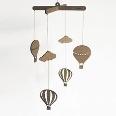 Vintage Skies Wooden Mobile - hardtofind.