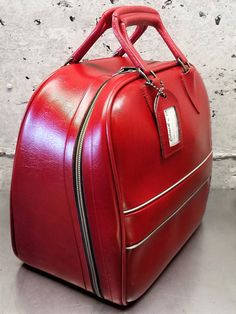 Vintage Colonial # 7503 Bowling Ball Bag/Red With Metallic Gold Trim/Overnight Bag/1960's Bowling Ball Bag/Collector's Bowling Bag/Sport Bag by MidModery on Etsy