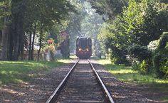 Locomotief van het spoorwegmuseum tussen Haaksbergen en Boekelo