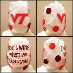 Stemless Don't WINE when we beat you Wine Glass