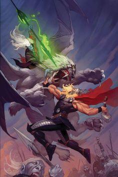 Thor vs Malekith by Ron Garney