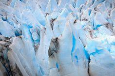 Close Up Section Of Herbert Glacier