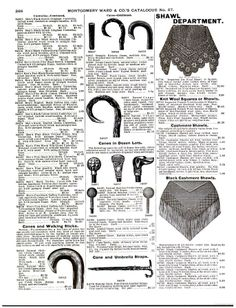 Cane for the Count - Montgomery Ward & Co. Catalogue and Buyers' Guide 1895 - Montgomery Ward - Google Books