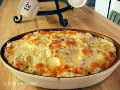 Potatoes Romanoff - Potatoes, shallots, white cheddar cheese, sour cream.  Never had it, think I'll try.