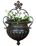 Deco 79 Metal Wall Planter, 18-Inch by 12-Inch