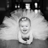 Cute 12 Months Baby Tutu Photo Shoots in Black and White
