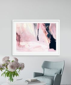 Printable Abstract Art, Navy Blue and Pink Art, instant download art, 30x40 Large Abstract Art, Dan Hobday, 24x36 art, living room art by DanHobdayArt on Etsy Pink Wall Art, Pink Art, Pink Walls, Living Room Art, Blue Tones, Abstract Wall Art, Modern Wall Art, New Art, Art Gallery