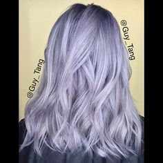 Silver Hair don't care! @kenra Silver Metallic with violet booster created Guy Tang