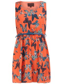 Butterfly print dress - Dorothy Perkins