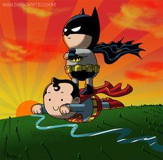 Eduardo Lucas Nascimento, known as Dragonarte, is a Brazilian comic artist. He draws Marvel and DC Comics universe in his own style Batman Universe, Comics Universe, Batman E Superman, Famous Superheroes, Batman Merchandise, Book Creator, Dragon, Fan Art, American Comics