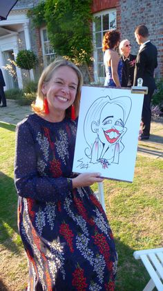 Another live caricature of a wedding guests at Gildredge Manor in Eastbourne Kent London, Caricature From Photo, London Wedding, Pen And Paper, Trade Show, Caricatures, Corporate Events, First Love, Product Launch