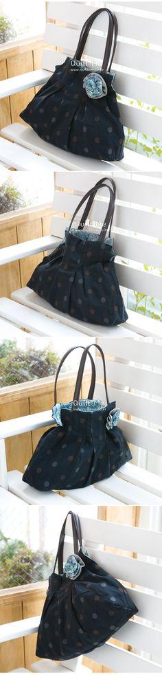 [블랙 샤링 토트백] Japanese Bag, Fabric Bags, Sewing, Projects, Decor, Scrappy Quilts, Totes, Patterns, Log Projects