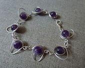"""Bracelet """"Vénus"""" en argent 925 et améthyste : Bracelet par debellissima"""