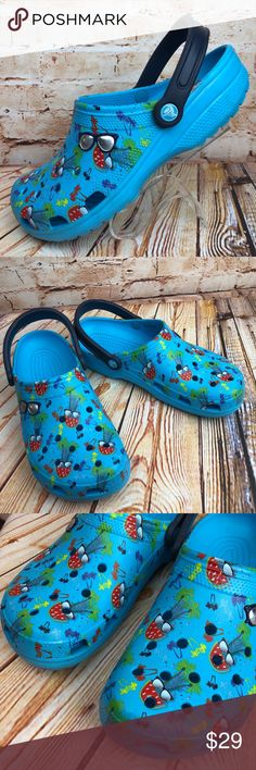 d5e918062b9abc CROCS Clogs Women Sz 12 Rubber Water Shoes Mens 10 CROCS Clogs Womens  Size12 Blue Rubber