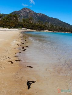 Pure and Ready for your foot prints at Hazards Beach Freycinet Peninsula Tasmania, Australia