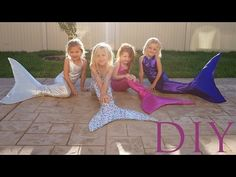 DIY HOW TO MAKE A SWIMMABLE MERMAID TAIL FOR UNDER $25 - YouTube (This is for kids, but I feel just change some sizes and pow, adult mermaid tail.)